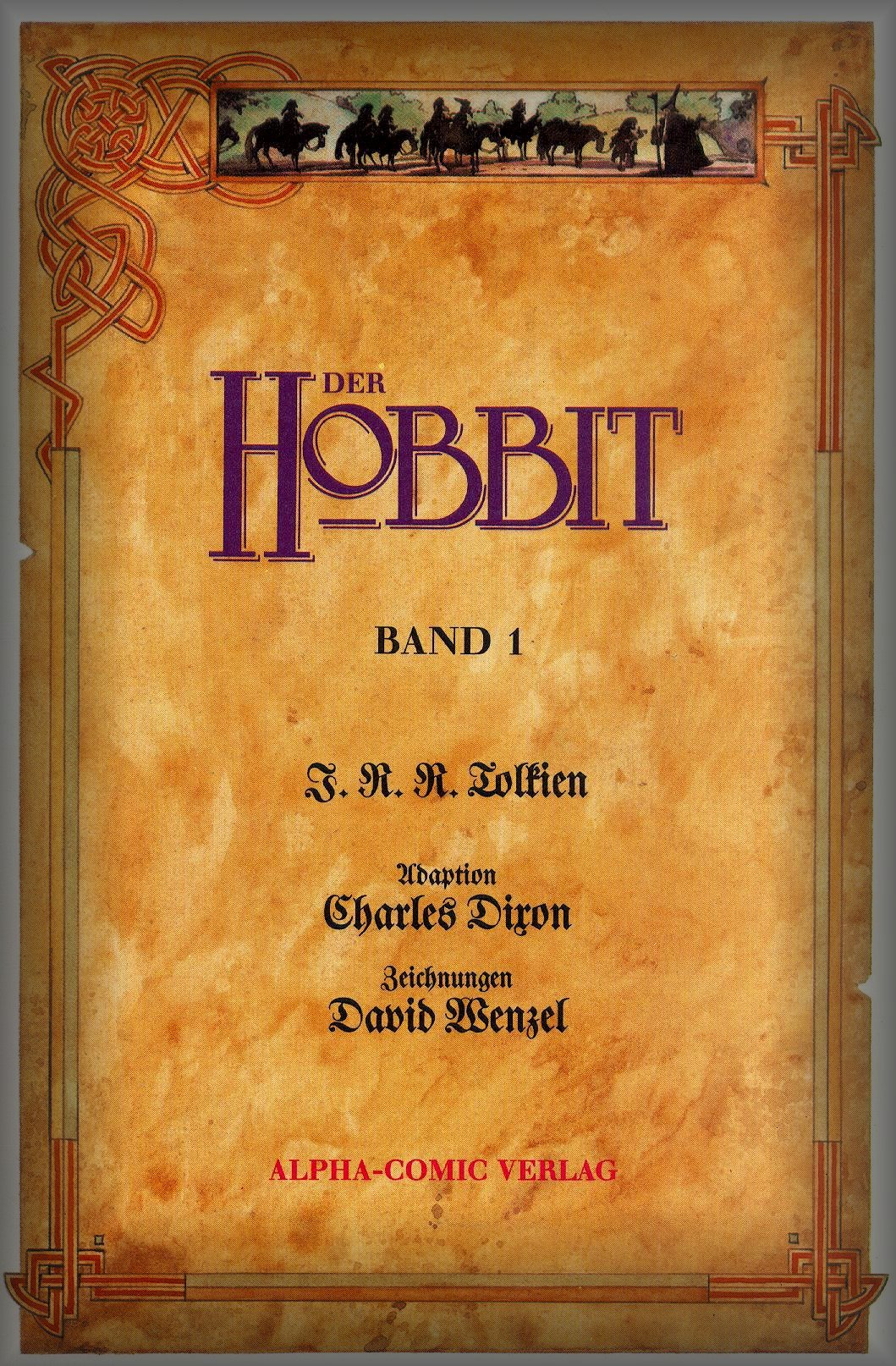 Couverture dU Hobbit version BD par David Wenzel